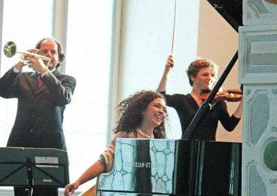 Marianna Sherinian, Jeroen Berwaerts & Orchester M 18, Johannes Klumpp - Juleum Helmstedt (Foto: Volker Linne)